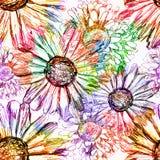 Abstract bloemen naadloos patroon. Vector, EPS 10 Royalty-vrije Stock Afbeeldingen