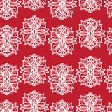 Abstract bloemen rood patroon Stock Afbeelding