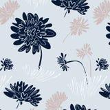 Abstract bloemen teder patroon In hand getrokken texturen Modern abstract ontwerp voor, document, dekking, stof en andere royalty-vrije illustratie