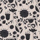 Abstract bloemen volks naadloos patroon royalty-vrije illustratie