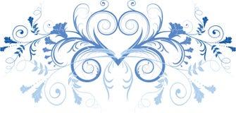 Abstract bloemenelement voor ontwerp Stock Afbeelding