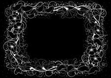 Abstract bloemenframe royalty-vrije illustratie