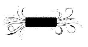 Abstract bloemenframe, elementen voor ontwerp, vector Royalty-vrije Stock Afbeelding