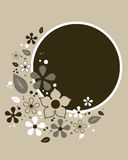 Abstract bloemenframe - vector stock illustratie