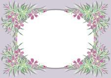 Abstract bloemenkader stock illustratie