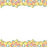 Abstract bloemenkader met plaats voor tekst Royalty-vrije Illustratie