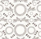 Abstract bloemenkrabbel naadloos patroon Stock Afbeelding