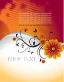 Abstract bloemenmalplaatje met plaats voor uw tekst Stock Afbeeldingen