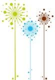 Abstract bloemenontwerp Stock Afbeelding
