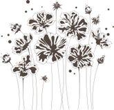 Abstract bloemenontwerp, boeket van bloemen vector illustratie