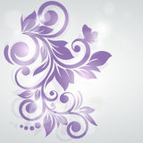 Abstract bloemenontwerp Vector illustratie Bevroren werveling Royalty-vrije Stock Afbeelding