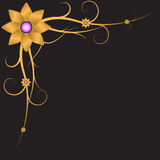 Abstract bloemenornament Stock Foto