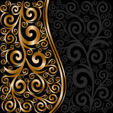 abstract bloemenornament met golven Royalty-vrije Stock Afbeelding