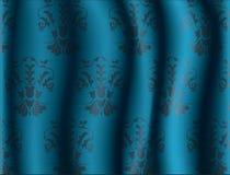 Abstract Bloemenornamentpatroon op zijdeachtergrond Stock Afbeeldingen