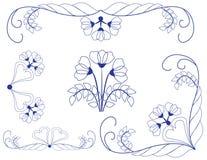 Abstract bloemenpatroon Stock Foto