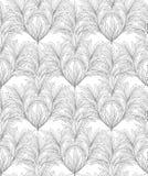 Abstract bloemenpatroon Blad naadloze backgound Royalty-vrije Stock Afbeeldingen
