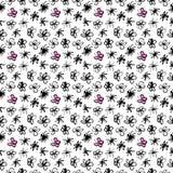 Abstract bloemenpatroon De stijl van de schets Royalty-vrije Stock Afbeelding