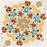 Abstract bloemenpatroon met bloemblaadjes royalty-vrije illustratie