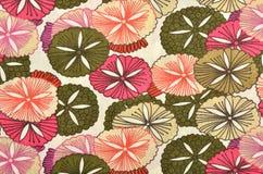Abstract bloemenpatroon op witte stof Royalty-vrije Stock Afbeeldingen