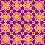 Abstract bloemenpatroon in roze en purple Stock Afbeelding