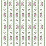 Abstract bloemenpatroon van linten vector illustratie
