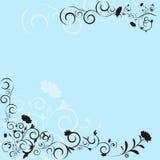 Abstract bloemenpatroonframe III stock illustratie