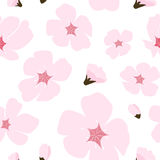 Abstract Bloemensakura flower japanese natural seamless-Patroon Royalty-vrije Stock Afbeeldingen