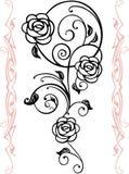 Abstract bloemensilhouet vector illustratie