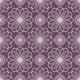 Abstract bloemenspirographpatroon Stock Illustratie