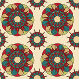 Abstract bloemenspirographpatroon Royalty-vrije Stock Afbeeldingen