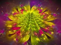 Abstract bloemfractal digitaal mooi decoratief effect Royalty-vrije Stock Foto's