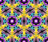 Abstract Bloemfractal Patroon Stock Afbeelding