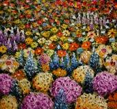 Abstract bloemgebied, open plek van kleurrijke bloemenachtergrond Royalty-vrije Stock Afbeelding
