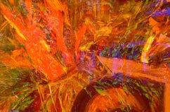 Abstract Bloemolieverfschilderij Stock Afbeeldingen