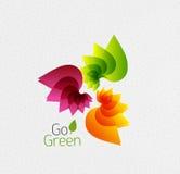 Abstract bloemontwerp. Ga Groen concept Stock Afbeelding
