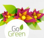 Abstract bloemontwerp. Ga Groen concept Royalty-vrije Stock Fotografie