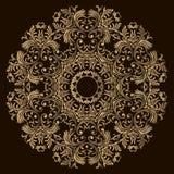 Abstract Bloemontwerp Mandala Decoratieve ronde elementen Oosters patroon, vectorillustratie Rond ontwerpelement Kan gebruik zijn Stock Illustratie