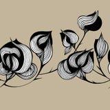 Abstract bloempatroon royalty-vrije illustratie