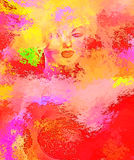 Abstract Blonde, Splashed Paint Royalty Free Stock Photography