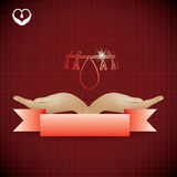 Abstract blood donor background Royalty Free Stock Image