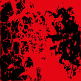 Abstract blood image. Splatter in red ink color on black backgro Stock Photo
