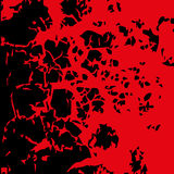 Abstract blood image. Splatter in red ink color on black backgro Royalty Free Stock Photos