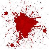 Abstract  blood splatter isolated Stock Photo