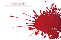 Abstract Blood splatter isolated on White background,  des Royalty Free Stock Photo