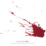 Abstract Blood splatter isolated on White background,  des Stock Photo