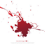 Abstract Blood splatter isolated on White background,  des Stock Image