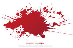 Abstract Blood splatter isolated on White background, vector des Royalty Free Stock Images