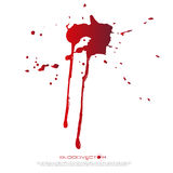 Abstract Blood splatter isolated on White background, vector des Stock Photo