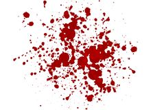 Abstract  blood splatter red color isolated Stock Photo