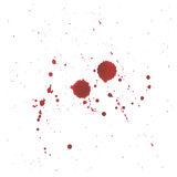 Abstract Blood splatter on white background Royalty Free Stock Photography